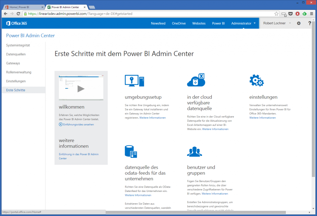 1-2 Power BI Admin Center