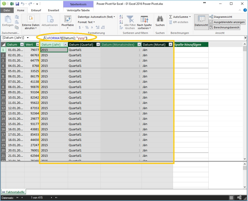 1-3 Excel 2016 Power Pivot Calculated Columns
