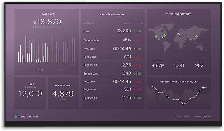 1 Dashboard Intro - Databox datawall