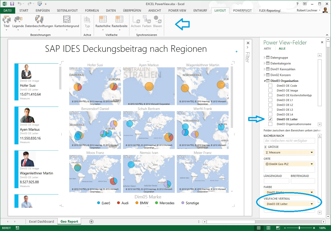 Das neue Excel 2013   Teil 4 Power View Map Reports ...