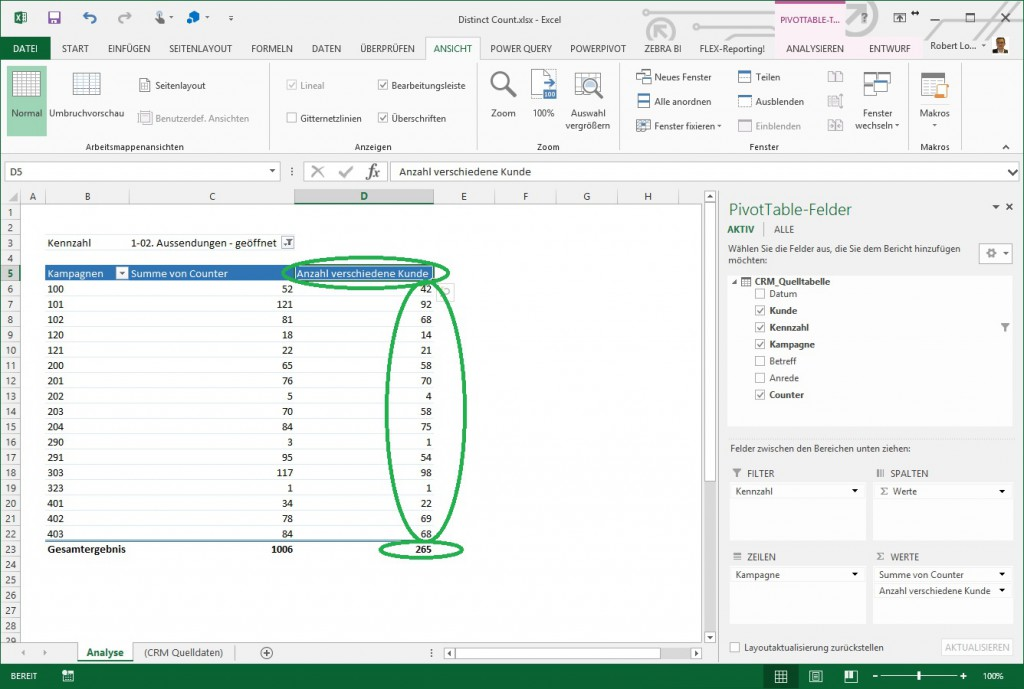 Excel Pivot Distinct Count 5