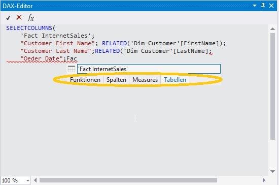 Neue Funktionen in SQL Server 2017 Tabular Model – Linearis